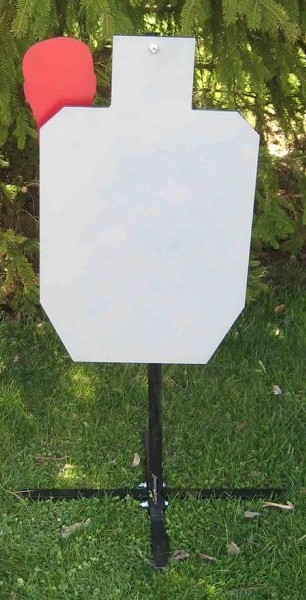 IPSC (HSR) Steel Target w/ Stand - AR 500 Challenge Plate w/ Movable Hostage Plate - EA : steel plate target stand - pezcame.com