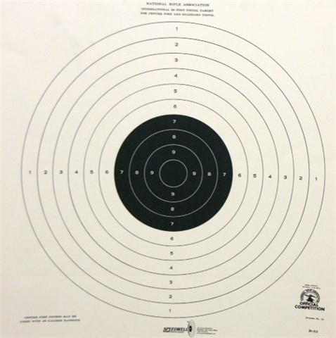 NRA Official Pistol Target B-33 - Box of 500