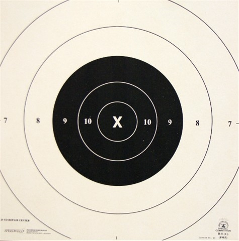 graphic about Printable Nra Pistol Targets named NRA Formal Pistol Concentrate B-8 Restore Centre Paper - 25 Yd Centre - Box of 1000