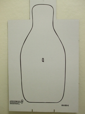 FBI-Q Shoulder Cut Cardboard Qualification Target - Bundle of 100